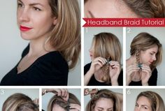90 Best Hairstyle tutorial: Easy braided headband - Hair Romance