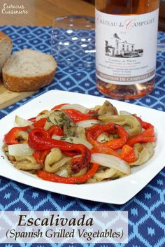 Escalivada is a Spanish grilled vegetable appetizer recipe that is easy to make and big on flavor. #winepw | www.CuriousCuisiniere.com
