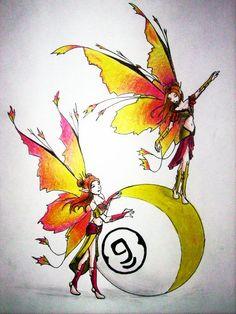 Billiard fairy by InkCell-Illustration.deviantart.com on @deviantART