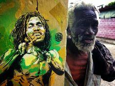 Abril es sobre nosotros, y es hora de que la cuota de marzo de las 10 mejores piezas de arte en la calle StreetArtNews (clasificación basada en únicas páginas vistas de nuestro servidor).  Número destacado es una hermosa galería de símbolos Bob Marley por C215.