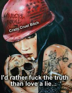 Seductive Femme Fatale Paintings by Brian M. im likeing the metallica ref. Airbrush Art, Totenkopf Tattoos, And Justice For All, Mark Ryden, Skull Art, Pin Up Girls, Crazy Girls, Bad Girls, Dark Art