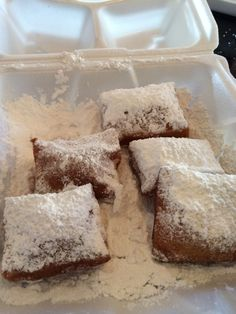 This post contains information about the beignets at Sassagoula Floatworks & Food Factory in Port Orleans French Quarter at Disney World. Disney World Vacation, Disney Trips, Walt Disney World, Beignets, Gluten Free Desserts, Dairy Free Recipes, French Quarter, Disney Food, Food Allergies