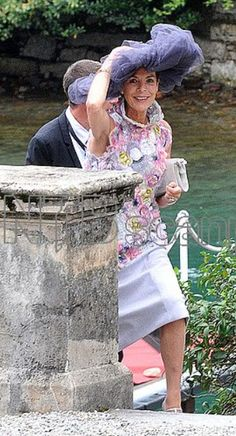 Princess Caroline attending a function for the upcoming wedding of her son, Prince Pierre
