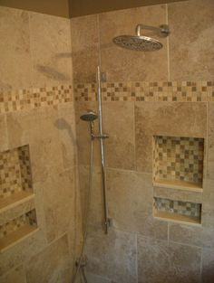 Master Bath with walk-in shower - traditional - spaces - boston - Melissa's Otherlife