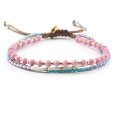 Chan Luu - Pink Mix Multi Strand Single Bracelet, $45.00 (http://www.chanluu.com/bracelets/pink-mix-multi-strand-single-bracelet/)