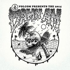 Volcom Damn Am 2014 Graphic  jamiebrowneart.com