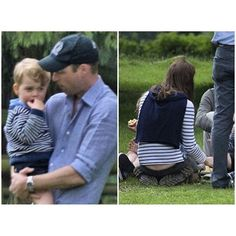 Love seeing the papa-side of Wills! And look how cute Kate is sitting there:) #KateMiddleton #PrinceWilliam