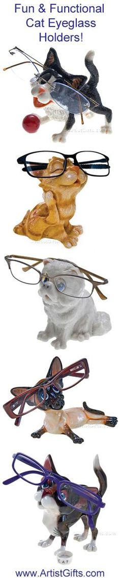Check out our new Cat Eyeglass Holders! They keep glasses handy and are a great gift for cat lovers and kids who wear glasses! Free Shipping Everyday - Shop now at http://www.artistgifts.com/eyeglass-holders-detail/cat-eyeglass-holders.html