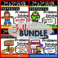 Fall Purposeful Problem Solving Bundle for grades 2nd-3rd