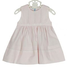03ab4d259 NEW Feltman Brothers Pink Sleeveless Dress with Pintucks and Lace Insertion  and Matching Diaper Cover