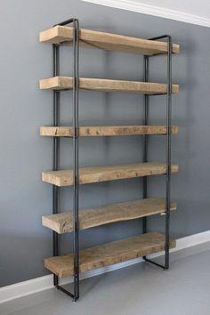 Récupération bois bibliothèque étagères unité stockage par DendroCo