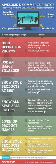 Using brilliant product images to make your e-commerce as close to real-life experience as possible. Boost your e-commerce sales with these tips. E Commerce, Online Marketing, Digital Marketing, Marketing Ideas, Business Marketing, Video Photography, Product Photography, Photography Tutorials, Object Photography