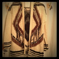 Altered State Sweater Cardigan Brown colors. Tassels. Size small. Never worn. Make an offer and I may counter or accept!! Sweaters Cardigans