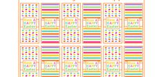FREE Easter Eggs and Stripes Mini Candy Bar Wrappers