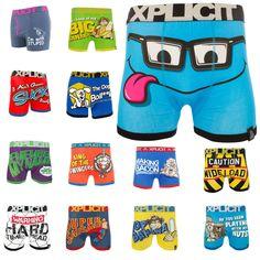 Funny Underwear, New Underwear, Underwear Brands, Mr Grumpy, Girl Boxers, Funny Numbers, Rude Jokes, Funny Boxer, Rude Boy