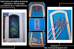 MINIATURES AND CRAFTS: A basic tutorial on how to do wrought iron in miniature, translated from Spanish