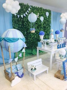 ideas for unique baby shower motifs for boys 5 - children& birthday . - Ideas for Unique Baby Shower Motivations for Boys 5 – Kids Birthday Ideas – - Décoration Baby Shower, Mesas Para Baby Shower, Baby Shower Balloons, Baby Shower Parties, Baby Shower Gifts, Baby Shower For Boys, Baby Showers, Baby Boys, Unique Baby Shower Themes
