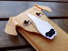 Sighthound iPhone Case - Dog Felt Phone Cover -  Cell Phone Sleeve - Handmade felt case