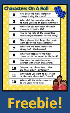 I love to use this during guided reading or with pairs of students.  We use this before reading to review, during reading, and after reading. Please note that this is part of a characterization packet filled with activities you can use with any story or book.  If you are interested, check out the packet in my store.  Thanks…