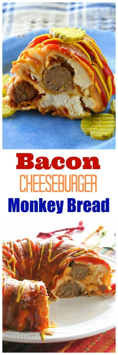 This Bacon Cheeseburger Monkey Bread has layers of cheese, bacon, meatballs, and dough.