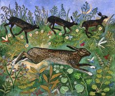 Moon Run by Anna Pugh (via: Animalarium)