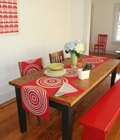 Luxury table cloth.