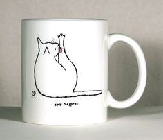 Cat Mug Cat Humor Mug Cat Friend Mug Customized Cat por ArtByJulene