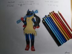 I was kinda... shocked, when I colored it.... I just can't believe, that I drawed this Mega Lucario... (Ps: This one took me almost 4 hours!) YEAH!