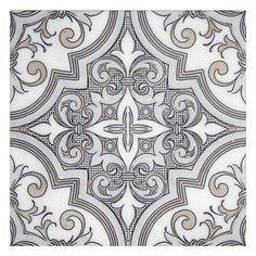 Rococo Decorative Wall Tile Beau Monde Collection Rococo Loco Mosaic In Thassos Carrara