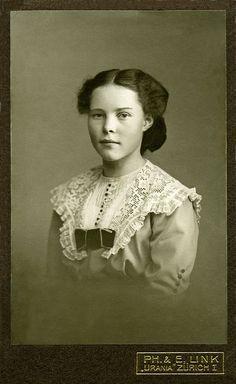 +~+~ Antique Photograph ~+~+ Girl ~ Switzerland ca. 1910