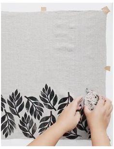 Block Painting, Fabric Painting, Stencil Fabric, Stamp Printing, Screen Printing, Block Printing On Fabric, Block Print Fabric, Block Printing Designs, Diy Printing