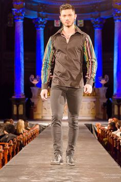 Cocody Collections for the Black Fashion Week Montreal 2014 - Man Printed Sleeves