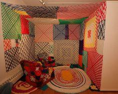 Crocheted room, 2011 art installation  <3