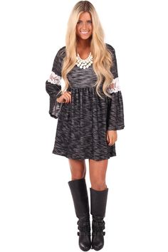 Lime Lush Boutique - Black Terry Flare Dress with Lace Detail, $52.99 (http://www.limelush.com/black-terry-flare-dress-with-lace-detail/)
