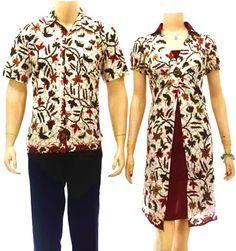 baju batik sarimbit modern putih cantik SB06 di sekarbatik.com  koleksi yang…