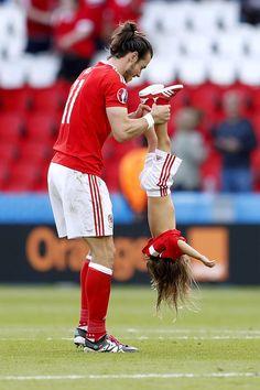 Gareth Bale & his daughte