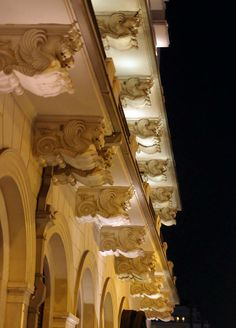 Detail of Grande Bretagne luxury hotel at Syntagma place in Athens, Greece, Neoclassical, Rustic, Statue, Architecture, Luxury, City, Places, Athens Greece, Hotels