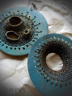 Fantastic use of crochet and polymer clay.  Here we can see the back side... | Flickr - Photo Sharing!
