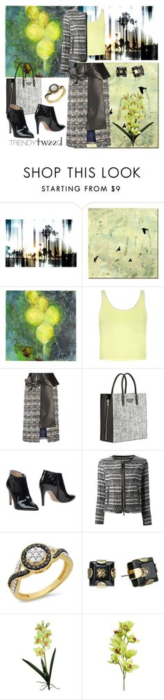 """""""Mix and Match with Tweed"""" by gabriele-bernhard ❤ liked on Polyvore featuring Parvez Taj, Universal Lighting and Decor, Sara Post, Topshop, Alexander McQueen, Balenciaga, Hoss Intropia, Milly, Marc by Marc Jacobs and Laura Cole"""