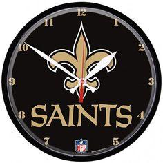 New Orleans Saints Round Wall Clock - Fleur-de-Lis