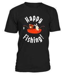Happy Fishing T-Shirt Funny Camping fish Glamping canoe Shir - Limited Edition