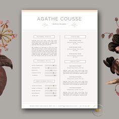 Check out Feminine Resume Template for Word by Botanica Paperie on Creative Market