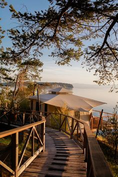 The Rockwater Secret Cove Resort in Half Moon Bay looks like the perfect place to go glamping! From  Treasures and Travels.