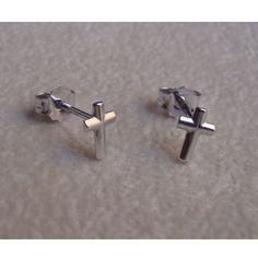 Orecchini con croce in oro bianco 18 kt GioielliVarlotta