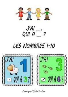 Jeu pour apprendre les nombres 1-10 J'AI __, QUI A __?