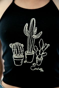 Brandy ♥ Melville | Sachi Succulents Embroidery Halter - Graphics