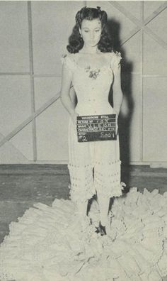 Vivien Leigh at the audition for Gone With The Wind