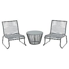 outsunny 3pc rattan table chairs set garden wicker 2 seater bistro set grey