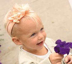 Double Ruffle Jersey Flower Headband  Baby by Oliviaavenue on Etsy, $8.00