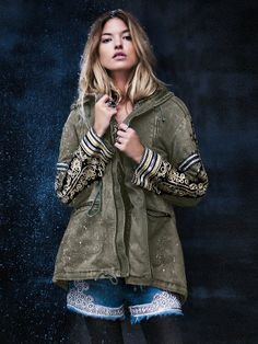 love this military free people jacket